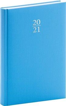 Denní diář Capys 2021, světle modrý, 15 × 21 cm