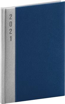 Denní diář Dakar 2021, stříbrnomodrý, 15 × 21 cm