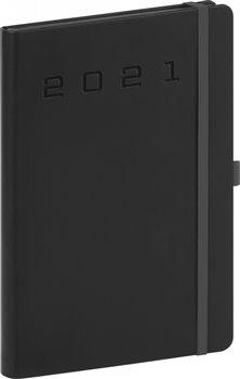 Denní diář Nox 2021, černý-?černý, 15 × 21 cm