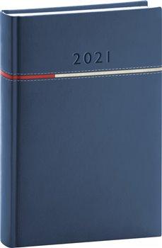 Denní diář Tomy 2021, modročervený, 15 × 21 cm