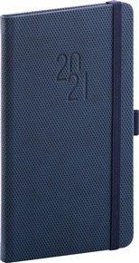 Kapesní diář Diamante 2021, modrý, 9 × 15,5 cm