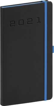 Obálka titulu Kapesní diář Nox 2021, černý-modrý, 9 × 15,5 cm