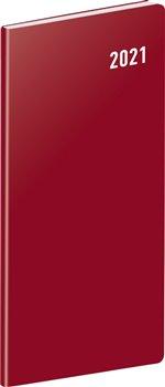 Obálka titulu Kapesní diář Vínový 2021, plánovací měsíční, 8 × 18 cm