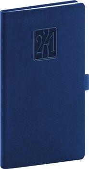 Obálka titulu Kapesní diář Vivella Classic 2021, modrý, 9 × 15,5 cm