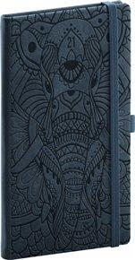 Kapesní diář Vivella Fun 2021, slon, 9 × 15,5 cm