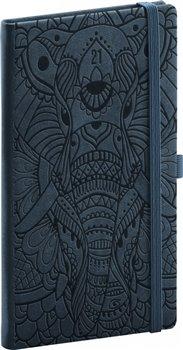 Obálka titulu Kapesní diář Vivella Fun 2021, slon, 9 × 15,5 cm