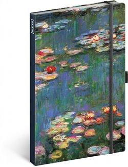 Obálka titulu Notes Claude Monet, linkovaný, 13 × 21 cm