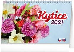 Obálka titulu Stolní kalendář Kytice CZ/SK 2021, 23,1 × 14,5 cm