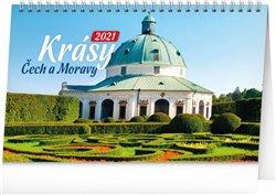 Obálka titulu Stolní kalendář Krásy Čech a Moravy 2021, 23,1 × 14,5 cm