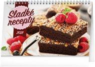 Stolní kalendář Sladké recepty 2021, 23,1 × 14,5 cm