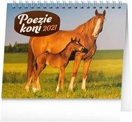 Stolní kalendář Poezie koní 2021, 16,5 × 13 cm