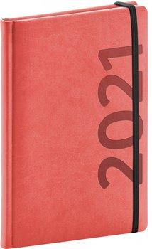 Obálka titulu Týdenní diář Avilla 2021, oranžovočerný, 15 × 21 cm