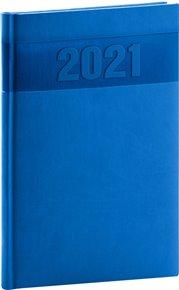 Týdenní diář Aprint 2021, modrý, 15 × 21 cm