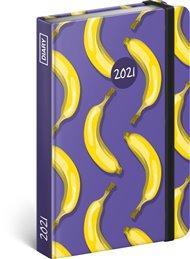 Týdenní diář Banány 2021, 11 × 16 cm