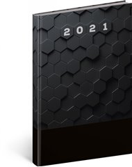 Týdenní diář Cambio Classic 2021, černý, 15 × 21 cm