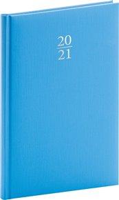 Týdenní diář Capys 2021, světle modrý, 15 × 21 cm