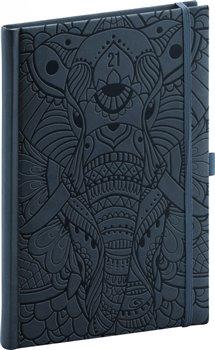 Obálka titulu Týdenní diář Vivella Fun 2021, slon, 15 × 21 cm
