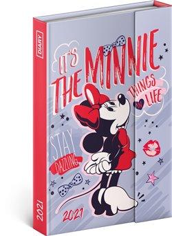 Obálka titulu Týdenní magnetický diář Minnie 2021, 11 × 16 cm