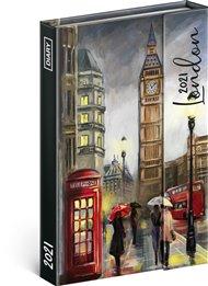 Týdenní magnetický diář Londýn 2021, 11 × 16 cm