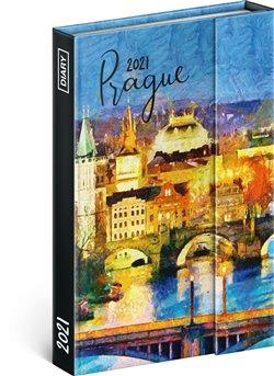 Obálka titulu Týdenní magnetický diář Praha 2021, 11 × 16 cm