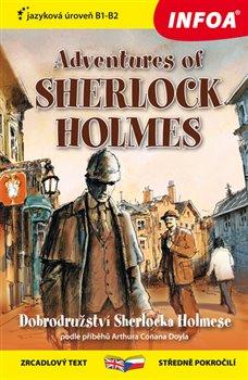 Obálka titulu Zrcadlová četba - Adventures of Sherlock Holmes (B1-B2)