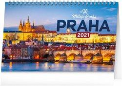 Stolní kalendář Praha – Miluju Prahu 2021, 23,1 × 14,5 cm