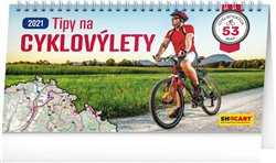 Stolní kalendář Tipy na cyklovýlety 2021, 30 × 16 cm