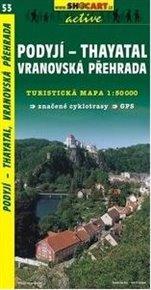 Podyjí, Thayatal,Vranovská přehrada / Turistická mapa SHOCart