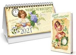 Obálka titulu Stolní kalendář nedělní menu 2021 + Babiččiny saláty a pomazánky