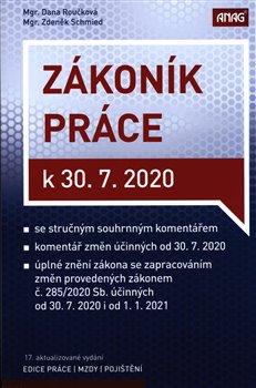 Obálka titulu Zákoník práce k 30. 7. 2020