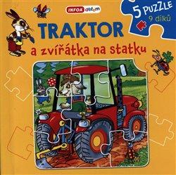 Obálka titulu Knížkové puzzle - Traktor a zvířátka na statku