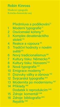 Obálka titulu Moderní typografie