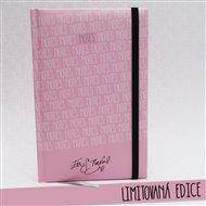Notes A5 Eva S.Burešová - linka / růžový
