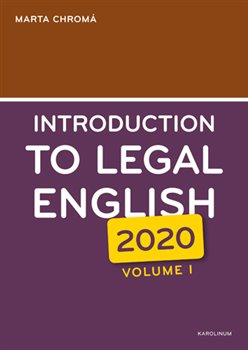 Obálka titulu Introduction to Legal English Volume I.