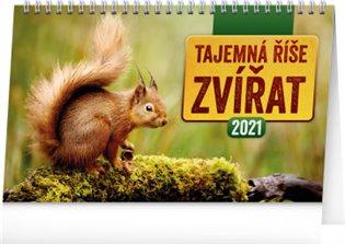 Stolní kalendář Tajemná říše zvířat 2021