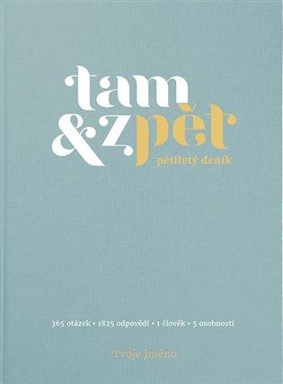 Deník Tam & zpět - malý - modrý