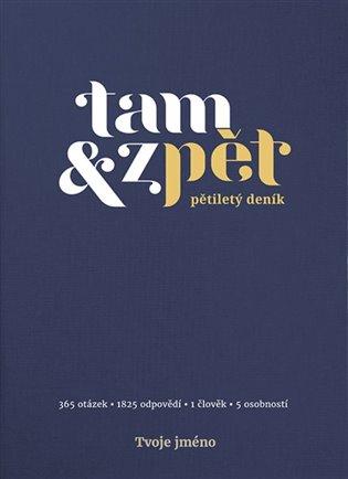 Deník Tam & zpět - velký - indigo