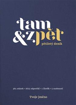 Obálka titulu Deník Tam & zpět - velký - indigo