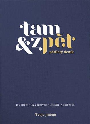 Deník Tam & zpět - malý - indigo