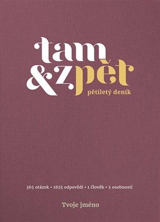 Deník Tam & zpět - malý - vínová