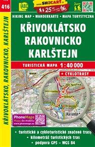 Křivoklátsko, Rakovnicko, Karlštejn / Turistická mapa SHOCart