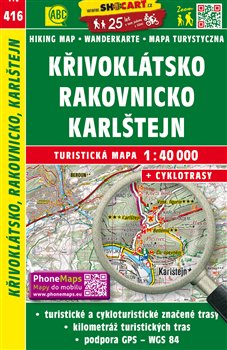 Obálka titulu Křivoklátsko, Rakovnicko, Karlštejn / Turistická mapa SHOCart