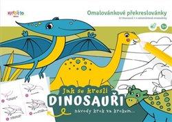 Omalovánkové překreslovánky Kresli.to Jak se kreslí dinosauři