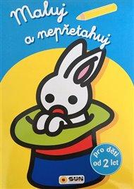 Maluj a nepřetahuj - sv.modrá, králik v klobouku - od 2 let