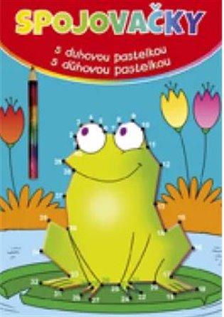 Spojovačky s duhovou pastelkou - žába