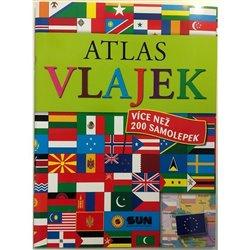 Obálka titulu Atlas vlajek s více než 200 samolepkami