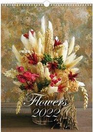 Kalendář 2022 nástěnný Flowers