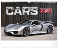 Nástěnný kalendář Auta 2022, 48 x 33 cm