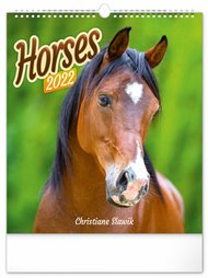 Nástěnný kalendář Horses 2022