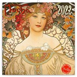 Obálka titulu Poznámkový kalendář Alfons Mucha 2022